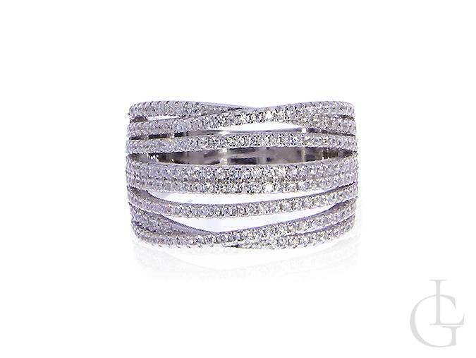 a3b18a00c03e4d ekskluzywny pierścionek srebrny obrączka szeroki duży cyrkonie srebro 0.925