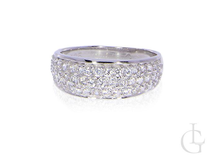 0ae0dc3890aba4 Pierścionek srebrny obrączka cyrkonie srebro rodowane 0.925 - LipGold