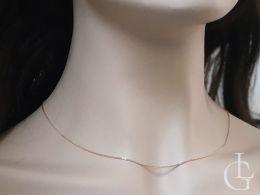 złoty łańcuszek damski lisi ogon na szyi złoto żółte próba 0.585