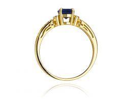 pierścionek zaręczynowy z brylantami i szafirem szafir naturalny brylanty diamenty pierścionek na palcu realne zdjęcia pierścionki zaręczynowe z szafirem prezent zaręczyny