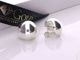 kolczyki srebrne kulki sztyft srebro realne zdjęcia na modelce uchu kolczyki srebrne na prezent dla żony dziewczyny urodziny imieniny rocznicę pakowanie na prezent