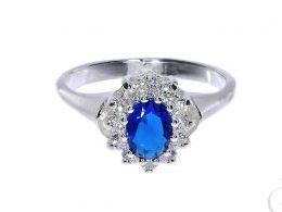 pierścionek srebrny markiza z szafirem szafir z cyrkoniami cyrkonie pierścionki srebrne realne zdjęcie na palcu dłoni na prezent urodziny imieniny pod choinkę na prezent dla dziewczyny żony