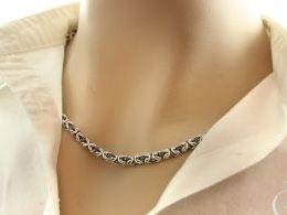 łańcuszek srebrny damski męski splot królewski gruby łańcuch prezent dla żony dziewczyny na urodziny imieniny pod choinkę walentynki dla ukochanej srebro 0.925