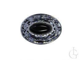duży pierścionek owalny onyks czarny kamień cyrkonie srebro 0.925
