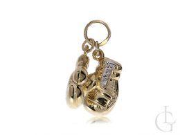 rękawice bokserskie zloty wisiorek na łańcuszek złoto 0.585 14K