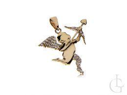 złoty wisiorek amor amorek symbol miłości zawieszka na łańcuszek 0.585