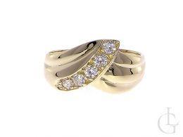 zaręczynowy pierścionek złoty złoto żółte 0.585 14K cyrkonie pierścionki zaręczynowe wzory nowoczesne tradycyjne