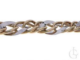 bransoletka złota damska ozdobna gruba szeroka złoto żółte złoto białe próba 0.585 14K