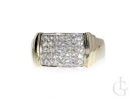 pierścionek złoty obrączka cyrkonie złoto żółte 14K próba 0.585 nowe wzory, nowoczesne pierścionki złote, biżuteria złota damska na prezent
