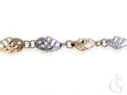 bransoletka złota damska ozdobna złoto żółte złoto białe próba 0.585 14K