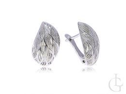 srebrny komplet biżuterii srebro rodowane kolczyki i wisiorek na łańcuszek srebro 0.925