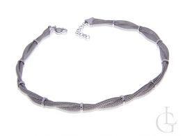 naszyjnik srebrny damski kłos zdobiony srebro rodowane 0.925
