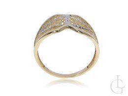pierścionek złoty szeroki duży złoto żółte złoto białe 0.585 14 karatowe złoto nowoczesne wzory pierścionków złotych