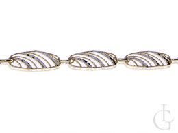 złota bransoletka damska ozdobna złoto żółte złoto białe 14K próba 0.585 prezent