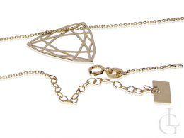 celebrytka złoty naszyjnik wisiorek origami trójkąt złoto żółte 14K 0.585
