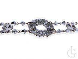 Swarovski bransoletka srebrna nowość kółko srebro kryształ kryształy prezent Mikołaj pod Choinkę na Walentynki