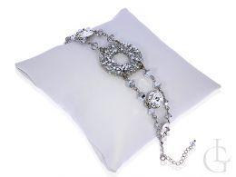 bransoletka swarovski kryształy srebro 0.925 biżuteria wieczorowa ślubna