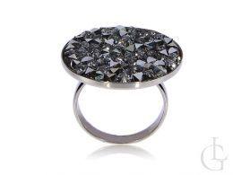 srebrny pierścionek damski duży Swarovski kryształ nowa kolekcja srebro 0.925