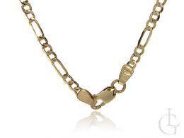 złoty łańcuszek męski damski figaro złoto żółte 14K 0.585 łańcuszek pełny