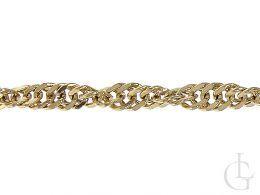 złoty łańcuszek damski szeroki gruby splot singapur złoto żółte 0.585 14K