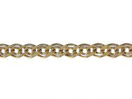 złoty łańcuszek damski dmuchany splot mona lisa złoto żółte złoto białe 0.585 14K