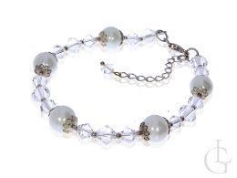 bransoletka srebro kryształy Swarovskiego perły Swarovskiego ślubna biżuteria damska