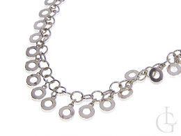 naszyjnik damski srebrny z kółeczek