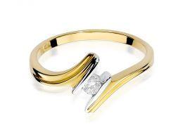nowoczesny wzór pierścionek zaręczynowy z brylantem