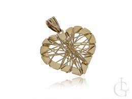 serca zawieszka ażurowa złoto żółte 0.585 14ct