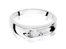 pierścionek zaręczynowy białe złoto 14ct brylant