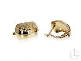 ekskluzywne złote kolczyki na angielskie zapięcie złoto żółte próba 0.585 14K