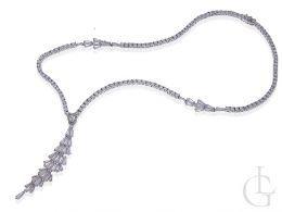kolia naszyjnik damski srebrny cyrkonie biżuteria ślubna i wieczorowa srebro 0.925