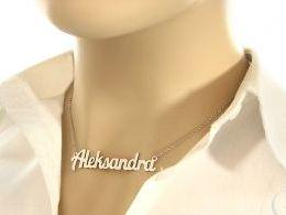 naszyjnik srebrny łańcuszek imię Aleksandra łańcuszek z wisiorkiem zawieszką wisiorek zawieszka naszyjnik z imieniem na prezent urodziny imieniny rocznicą imiona naszyjniki damskie srebrne pod choinkę Mikołaja