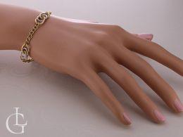 bransoletka damska łańcuszek na nadgarstku na ręce złoto żółte złoto białe próba 0.585 14ct bransoletki złote damskie na ręce