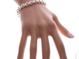 bransoletka srebrna damska szeroka splot rolo gruba szeroka na ręce modelce realne zdjęcie zdjęcia prezent dla żony dziewczyny na urodziny imieniny rocznicę upominek pod choinkę na walentynki różne wzory bransoletek srebrnych damskich