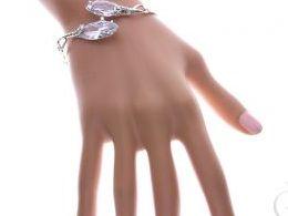 bransoletka srebrna damska szeroka duże cyrkonie kamienie szeroka na ręce modelce realne zdjęcie zdjęcia prezent dla żony dziewczyny na urodziny imieniny rocznicę upominek pod choinkę na walentynki różne wzory bransoletek srebrnych damskich