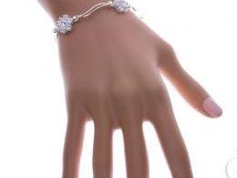 bransoletka srebrna damska z cyrkoniami cyrkonie kwiatki kwiatuszki realne zdjęcie zdjęcia prezent dla żony dziewczyny na urodziny imieniny rocznicę upominek pod choinkę na walentynki różne wzory bransoletek srebrnych damskich