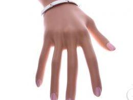 bransoletka srebrna damska z opalem tęczowym opal tęczowy szeroka na ręce modelce realne zdjęcie zdjęcia prezent dla żony dziewczyny na urodziny imieniny rocznicę upominek pod choinkę na walentynki różne wzory bransoletek srebrnych damskich