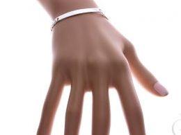 bransoletka srebrna pancerka męska prezent dziewczyny żony chłopaka męża na ręce dłoni realne zdjęcie