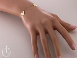 złota bransoletka celebrytka na nadgarstku na ręce serce kółko ażurowe pełne złoto żółte bransoletki złote celebrytki realne zdjęcia
