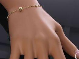 bransoletka złota gwiazdka gwiazda celebrytka łańcuszek złoto żółte