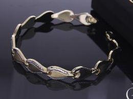 bransoletka złoto żółte 585 14k złota bransoletka damska ozdobna prezent realne zdjęcia na ręce dłoni bransoletki złote na rocznicę dla żony dziewczyny