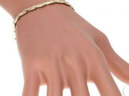 bransoletka złota bransoletki złote diamentowana szeroka damska na ręce modelce realne zdjęcie zdjęcia prezent dla żony dziewczyny na urodziny imieniny rocznicę upominek pod choinkę na walentynki różne wzory bransoletek srebrnych damskich