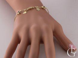 bransoletka złota damska celebrytka kółko serce złoto żółte
