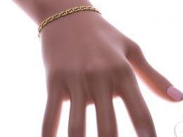 bransoletka złota bransoletki złote tigra łańcuszek na ręce modelce realne zdjęcie zdjęcia prezent dla żony dziewczyny na urodziny imieniny rocznicę upominek pod choinkę na walentynki różne wzory bransoletek srebrnych damskich