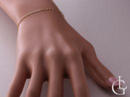 bransoletka złota łańcuszkowa realne zdjęcie zdjęcie na ręce nadgarstku złoto białe złoto żółte bransoletki damskie łańcuszkowa ozdobne na prezent