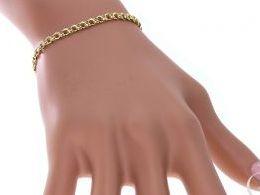 bransoletka złota bransoletki złote galibardi splot łańcuszek na ręce modelce realne zdjęcie zdjęcia prezent dla żony dziewczyny na urodziny imieniny rocznicę upominek pod choinkę na walentynki różne wzory bransoletek srebrnych damskich