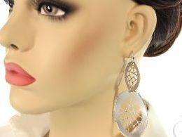 kolczyki srebrne wiszące duże srebro realne zdjęcia na modelce uchu kolczyki srebrne na prezent dla żony dziewczyny urodziny imieniny rocznicę pakowanie na prezent