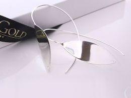 kolczyki srebrne wiszące długie łezki realne zdjęcia na modelce uchu kolczyki srebrne na prezent dla żony dziewczyny urodziny imieniny rocznicę pakowanie na prezent