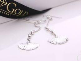 kolczyki srebrne wiszące muszle srebro realne zdjęcia na modelce uchu kolczyki srebrne na prezent dla żony dziewczyny urodziny imieniny rocznicę pakowanie na prezent